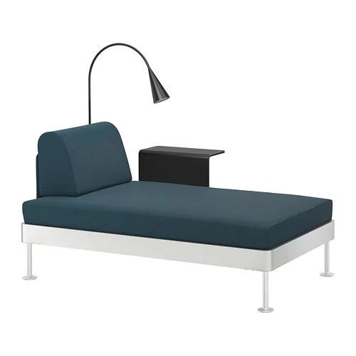 Шезлонг с лампой и столиком IKEA DELAKTIG Hillared бирюзовый 992.598.92