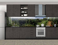 Кухонный фартук Лесная зелень, Пленка самоклеящаяся для скинали, Природа, зеленый, фото 1