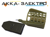 Кормушка пластиковая с крыльями, съемный груз малая 30х35мм 84г 10шт., фото 2