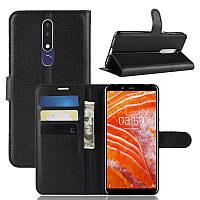 Чехол-книжка Litchie Wallet для Nokia 3.1 Plus Черный