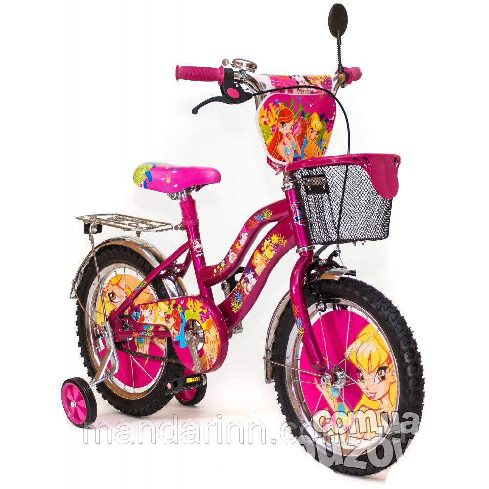 """Велосипед детский WINX 16"""" Розовый"""