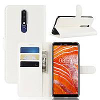 Чехол-книжка Litchie Wallet для Nokia 3.1 Plus Белый