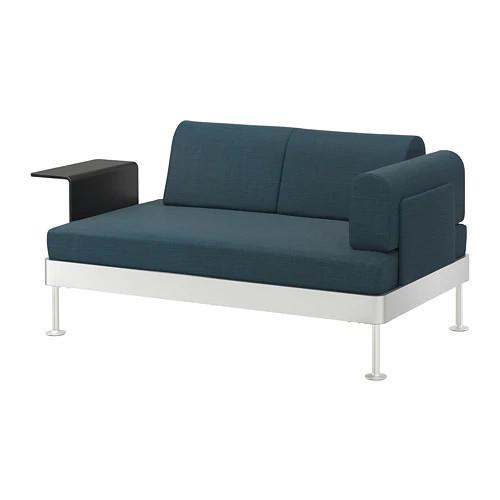 Диван 2-местный с встроенным столиком IKEA DELAKTIG Hillared бирюзовый 692.596.76