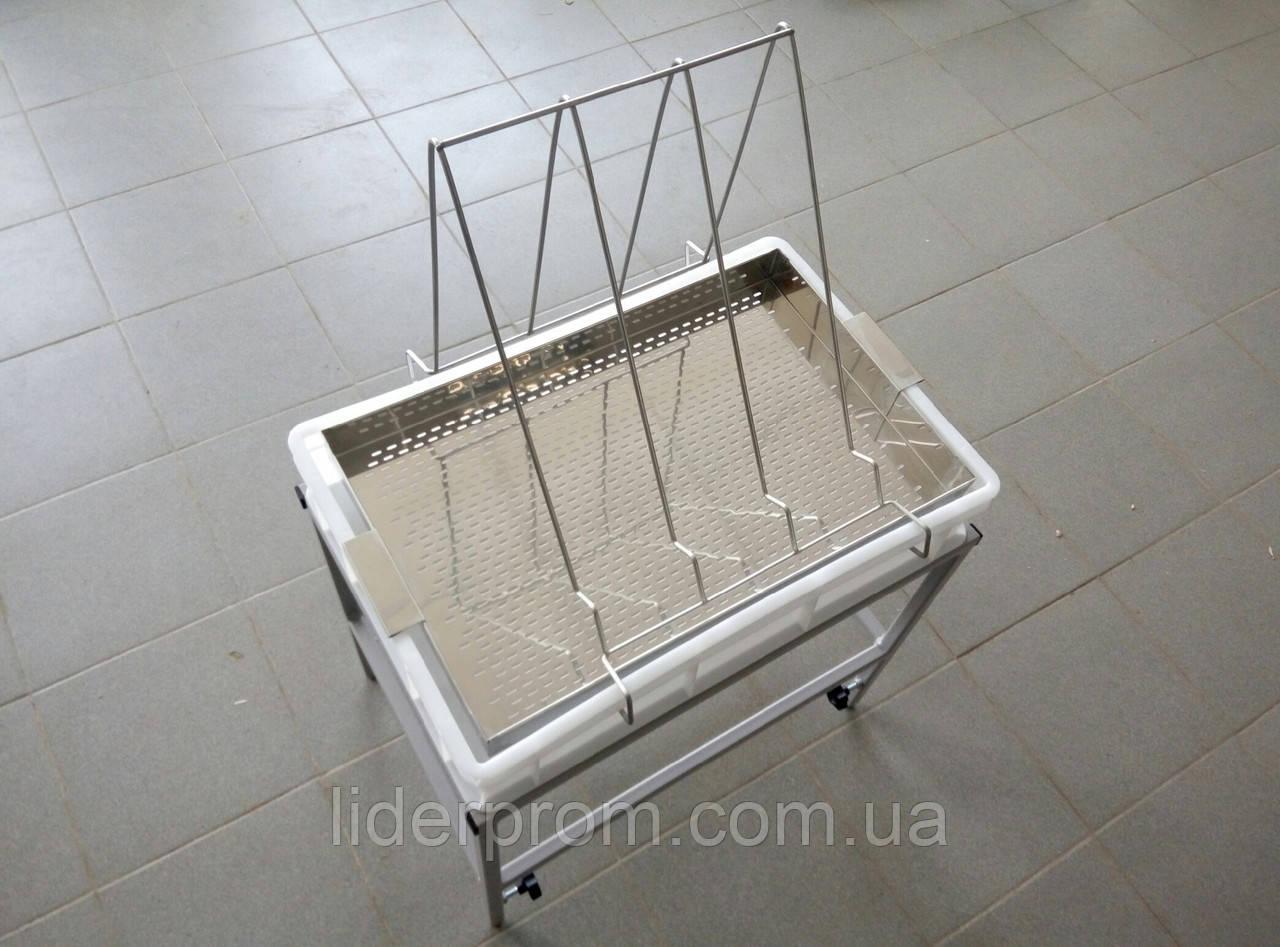Стол для распечатки с ванночкой пластиковой 100 мм, сито нерж. LYSON Польша