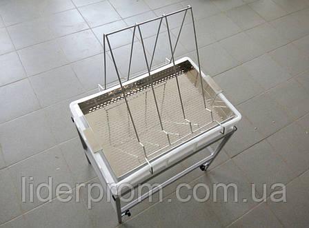 Стол для распечатки с ванночкой пластиковой 100 мм, сито нерж. LYSON Польша, фото 2