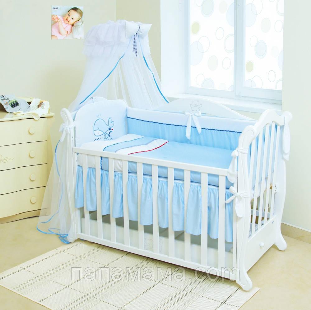 Постельный набор малышу в кроватку Twins Evolution Swimu