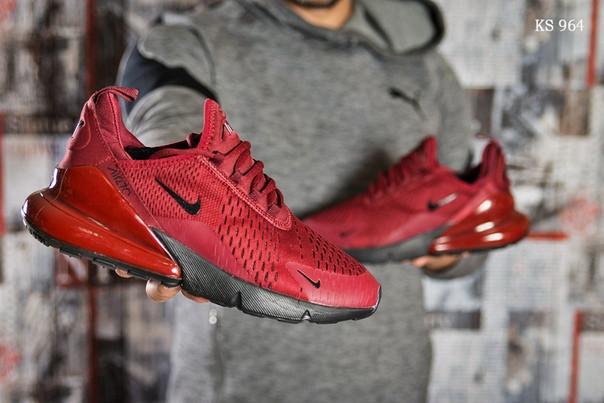 Мужские кроссовки Nike Air 270 (бордовые)