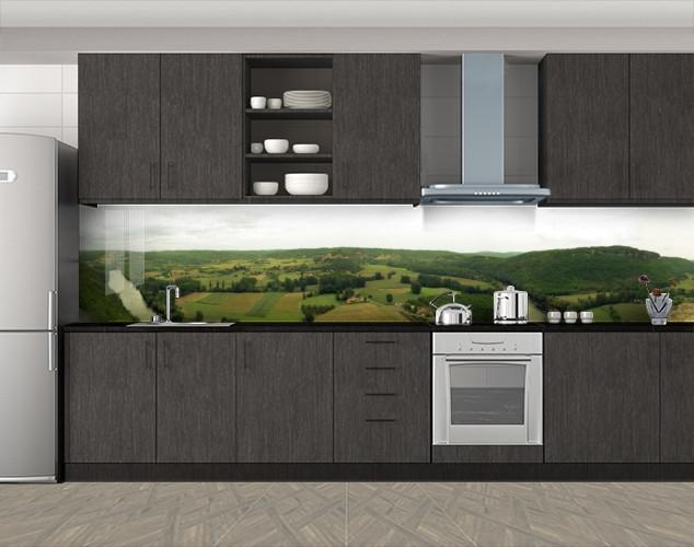 Кухонный фартук Вид сверху на поле, Стеновая панель с фотопечатью, Природа, зеленый