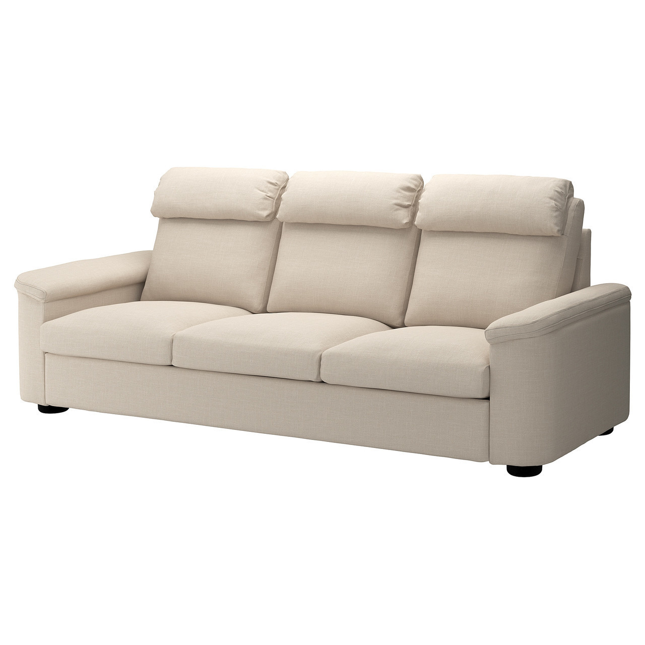 Диван IKEA LIDHULT 3-местный Gassebol светло-бежевый 492.569.71