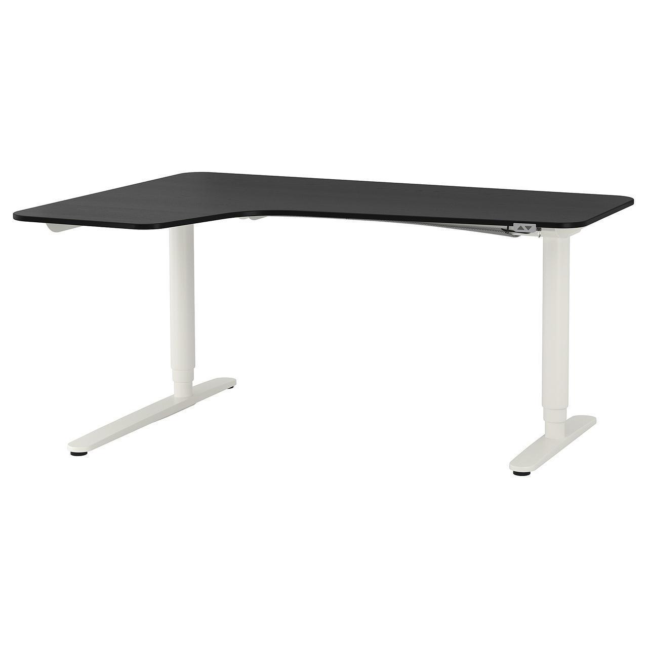 Компьютерный стол IKEA BEKANT 160x110 см черный белый 192.822.93