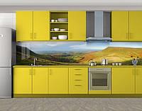 Кухонный фартук Долина и холмы, Скинали с фотоизображением на самоклеящейся пленке, Природа, зеленый, фото 1