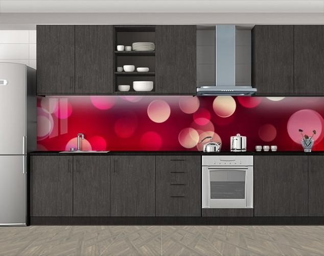 Кухонный фартук Винные блики, Скинали с фотоизображением на самоклеящейся пленке, Абстракции, красный