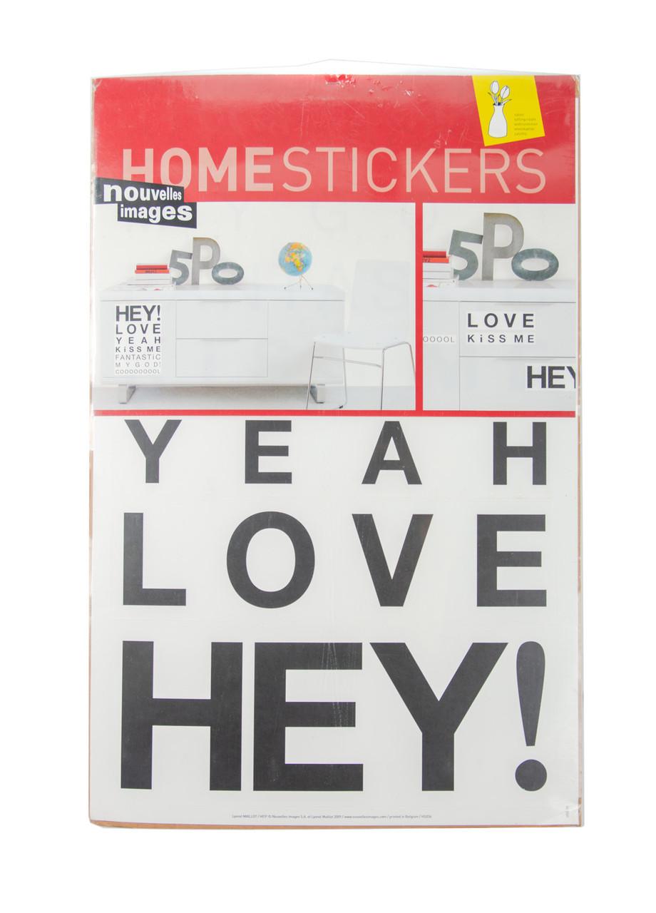 Наклейки для декора HOMESTICKERS 32х50см Черный, Белый