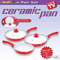 """Набор керамических сковород """"Ceramic pan"""" 3 шт"""