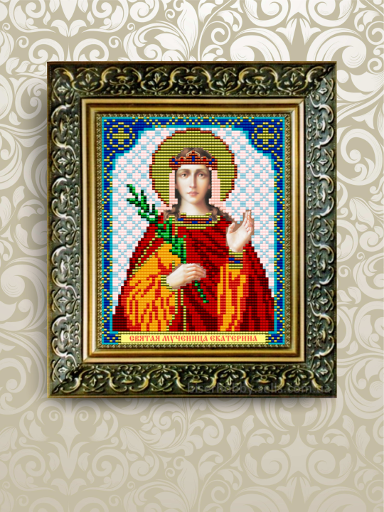 Схема для вышивания бисером икона Святая Мученица Екатерина VIA5016