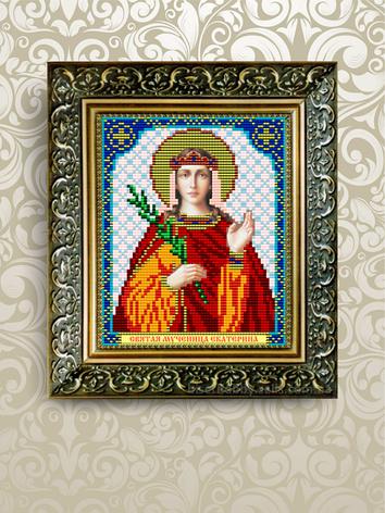 Схема для вышивания бисером икона Святая Мученица Екатерина VIA5016, фото 2
