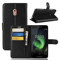 Чехол-книжка Litchie Wallet для Nokia 2.1 Черный
