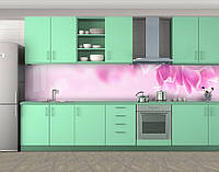 Кухонный фартук Лепестки тюльпана, Стеновая панель для кухни с фотопечатью, Цветы, розовый