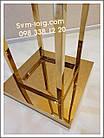 Стойка Осьминог хромированное золото, фото 2