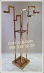 Стойка Осьминог хромированное золото