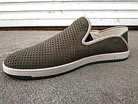 Мокасины туфли мужские летние замшевые 40 -47 р-р, фото 1