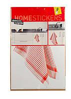 Наклейка для декора HOMESTICKERS 35х65см Красный, Белый