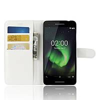 Чохол-книжка Litchie Wallet для Nokia 2.1 Білий