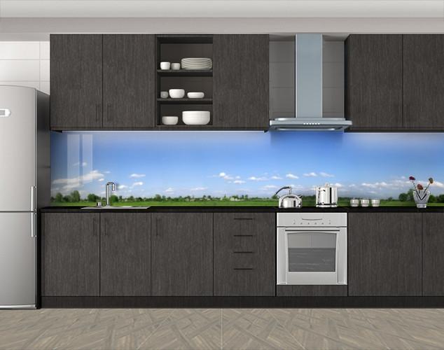 Кухонный фартук Голубое небо, Стеновая панель с фотопечатью, Природа, голубой