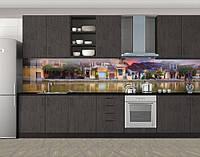 Кухонный фартук Элитные коттеджи, Кухонный фартук с фотопечатью, Архитектура, коричневый