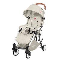Детская прогулочная коляска с дождевиком бежевая, белая рама CARRELLO Pilot CRL-1418/1 Cream Beige