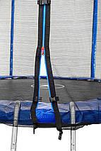 Батут Atleto 183 см с двойными ногами с сеткой синий, фото 2