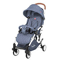 Детская прогулочная коляска с дождевиком светло-синяя, белая рама CARRELLO Pilot CRL-1418/1 Denim Blue