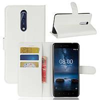 Чехол-книжка Litchie Wallet для Nokia 8 Белый