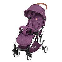 Детская прогулочная коляска с дождевиком фиолетовая белая рама CARRELLO Pilot CRL-1418/1 Iris Purple