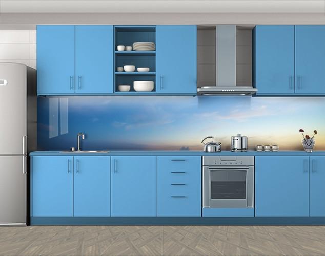 Кухонный фартук Голубое небо, Пленка для кухонного фартука с фотопечатью, Природа, голубой