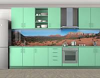Кухонный фартук Большой каньон, горы на диком западе, Пленка для кухонного фартука с фотопечатью, Природа, коричневый