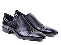 Классические черные лаковые туфли Etor