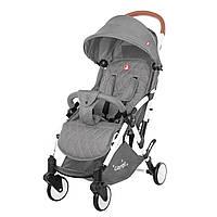 Детская прогулочная коляска с дождевиком серая, белая рама CARRELLO Pilot CRL-1418/1 Shadow Grey
