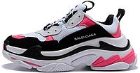 "Женские кроссовки Balenciaga Triple S ""White/Pink/Black"" (люкс копия)"