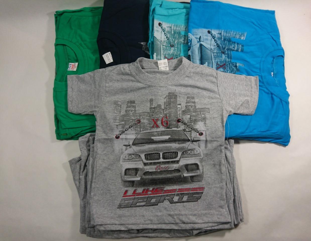 """Детская футболка?  летняя  на мальчика  """"Машина""""   4-8"""