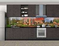 Кухонный фартук Кирпичное поместье, Кухонный фартук с фотопечатью, Архитектура, коричневый, фото 1