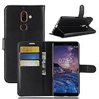 Чехол-книжка Litchie Wallet для Nokia 7 Plus Черный