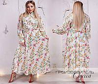 Длинное платье из креп-шифона 48-50,52-54