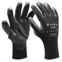 Перчатка робоча BLACK PU WURTH | Перчатка рабочая BLACK PU WURTH