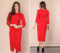 Стильне плаття на запах, арт 131, червоний, фото 1