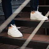 Мужские кроссовки South Fost White, замшевые белые мужские кроссовки, замшевые классические кеды, фото 2
