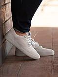 Мужские кроссовки South Fost White, замшевые белые мужские кроссовки, замшевые классические кеды, фото 3