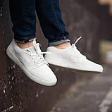 Мужские кроссовки South Fost White, замшевые белые мужские кроссовки, замшевые классические кеды, фото 4