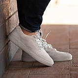 Мужские кроссовки South Fost White, замшевые белые мужские кроссовки, замшевые классические кеды, фото 5