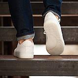 Мужские кроссовки South Fost White, замшевые белые мужские кроссовки, замшевые классические кеды, фото 8